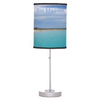 Sint Maarten Lampshade - sea, sand, sky Table Lamps