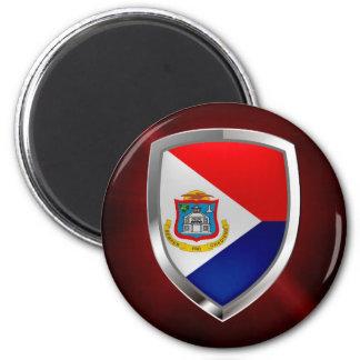 Sint Maarten Metallic Emblem Magnet