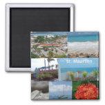 Sint Maarten-Saint Maarten Photo Collage 2 Inch Square Magnet