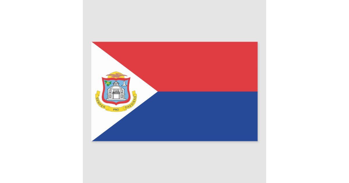 Sint maarten saint martin flag dutch netherlands rectangular sticker zazzle com