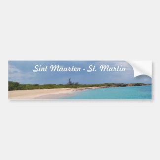 Sint Maarten - St. Martin Beach Scene Bumper Sticker