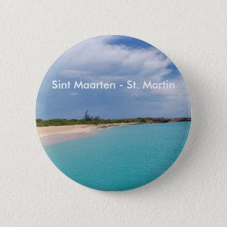 Sint Maarten - St. Martin Beach Scene Button