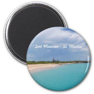 Sint Maarten - St. Martin Beach Scene Magnet