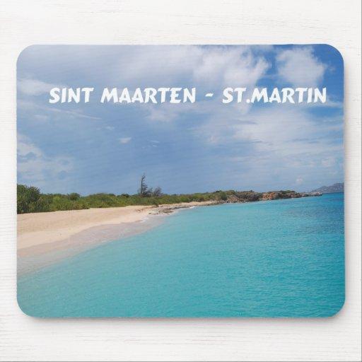 Sint Maarten - St. Martin Beach Scene Mousepads
