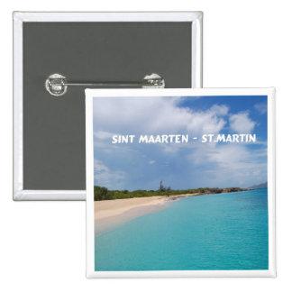 Sint Maarten - St. Martin Beach Scene Pinback Button