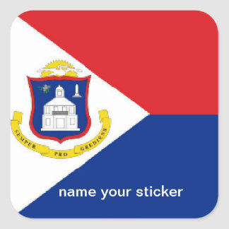 Sint Maarten St Martin flag sticker