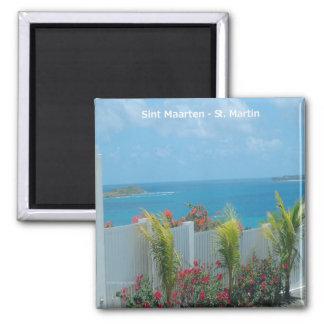 Sint Maarten - St. Martin Ocean Blue Seascape Magnet