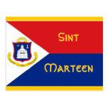 Sint Marteen St Martin flag Post Cards
