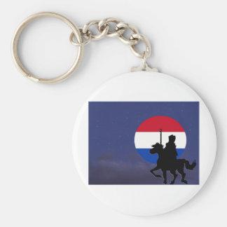 sint with Netherlands maan.jpg Basic Round Button Keychain