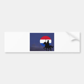 sint with Netherlands maan.jpg Bumper Sticker