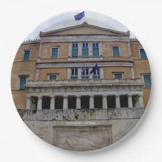 Sintagma - Atenas Plato De Papel 22,86 Cm