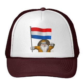 Sinterklaas con la bandera de los Países Bajos Gorro