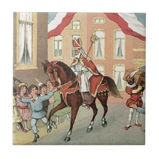 Sinterklaas Dutch St. Nick Vintage St. Nicholas Ceramic Tile