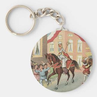 Sinterklaas Dutch St. Nick Vintage St. Nicholas Keychain