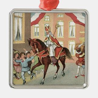 Sinterklaas Dutch St. Nick Vintage St. Nicholas Metal Ornament