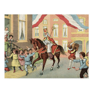 Sinterklaas Dutch St. Nick Vintage St. Nicholas Postcard