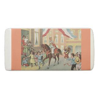 Sinterklaas on a horse Dutch St. Nick Vintage Eraser