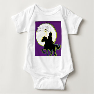 sinterklaas op paard baby bodysuit
