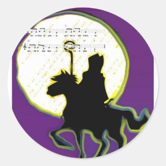 sinterklaas op paard classic round sticker
