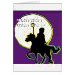 sinterklaas op paard greeting card
