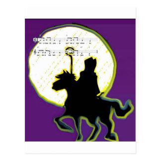 sinterklaas op paard postcard
