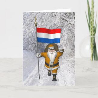 Sinterklaas With Dutch Flag Card