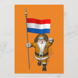 Sinterklaas With Ensign Of The Netherlands