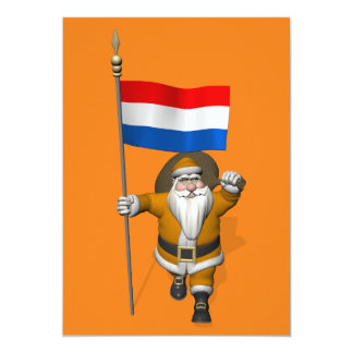 Sinterklaas With Ensign Of The Netherlands Card