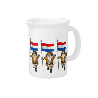Sinterklaas With Ensign Of The Netherlands Drink Pitcher