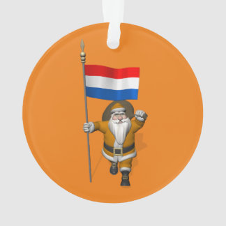 Sinterklaas With Ensign Of The Netherlands Ornament