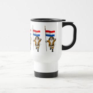 Sinterklaas With Ensign Of The Netherlands Travel Mug
