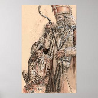 Sinterklaas y Zwarte Piet de Portia St Luke Impresiones