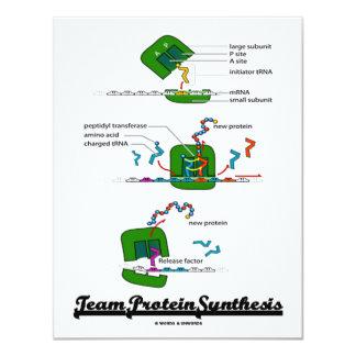 """Síntesis de la proteína del equipo (biología) invitación 4.25"""" x 5.5"""""""