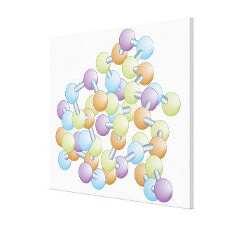 Síntesis de la proteína impresión en tela