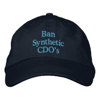 Sintético CDO de la prohibición Gorros Bordados