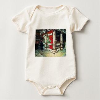Sinto Temple in Nikko by Vasily Vereshchagin Baby Bodysuits
