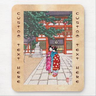 Sintoísta y su arquitectura, capilla Kyoto de Yasa Alfombrillas De Ratón