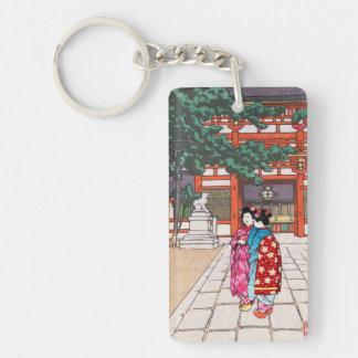 Sintoísta y su arquitectura, capilla Kyoto de Yasa Llavero Rectangular Acrílico A Doble Cara