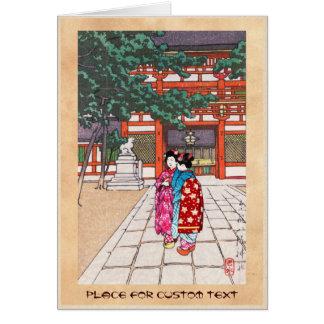 Sintoísta y su arquitectura, capilla Kyoto de Yasa Tarjeta Pequeña
