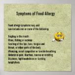 Síntomas de la alergia alimentaria impresiones