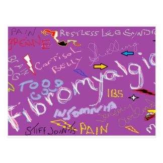 Síntomas del Fibromyalgia Tarjeta Postal