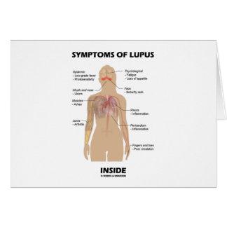 Síntomas del interior del lupus (desorden tarjeta de felicitación