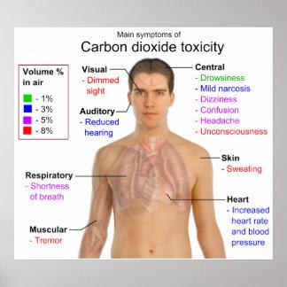 Síntomas principales de la carta de la toxicidad d póster