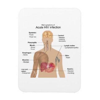 Síntomas principales de la infección VIH aguda Imanes De Vinilo