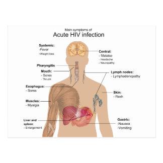 Síntomas principales de la infección VIH aguda Tarjeta Postal