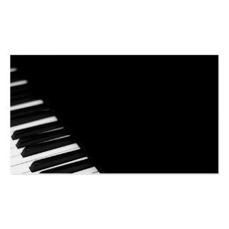 Sintonizador de piano del pianista tarjetas de negocios