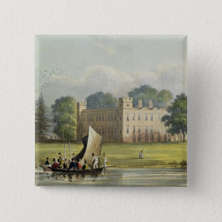 Sion house, from R. Ackermann's (1764-1834) 'Repos Pinback Button