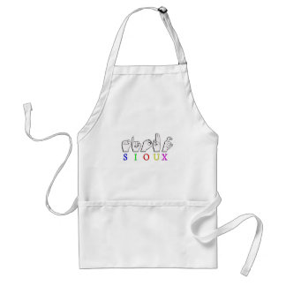 SIOUX  ASL FINGERSPELLED SIGN ADULT APRON