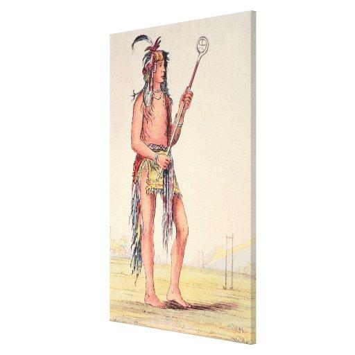 Sioux ball player Ah-No-Je-Nange Canvas Print