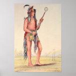 Sioux ball player Ah-No-Je-Nange Poster
